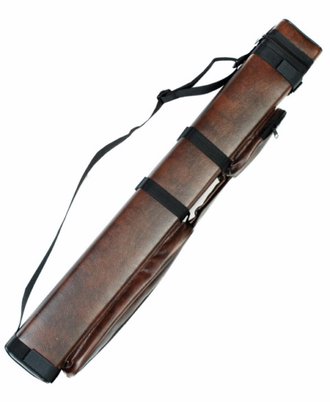 Case of 10 - Brown 2X2 Hard Pool Cue Case